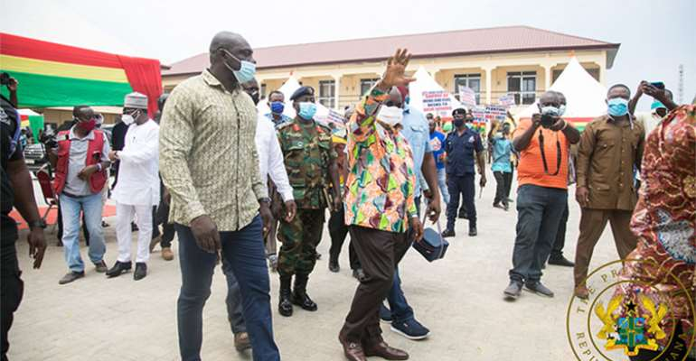 President Akufo-Addo during his visit to Anloga
