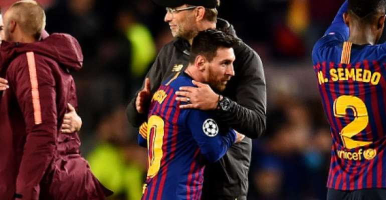 Jurgen Klopp and Messi