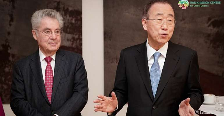 President Dr. Heinz Fisher with his co-chair, Ban Ki-moon.