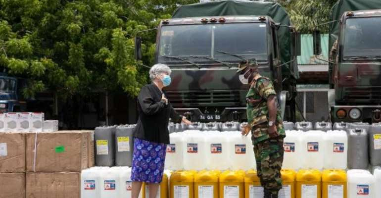 COVID-19: US Donates Medical Supplies To GHS