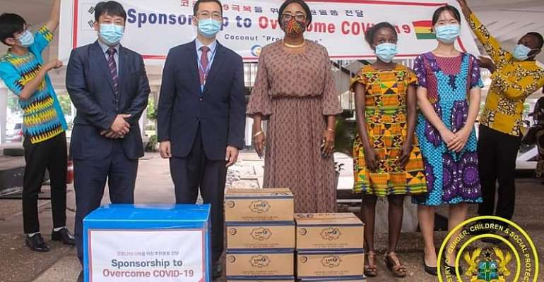 IYF Ghana And Coconut-South Korea Joins The COVID-19 Relief Efforts In Ghana