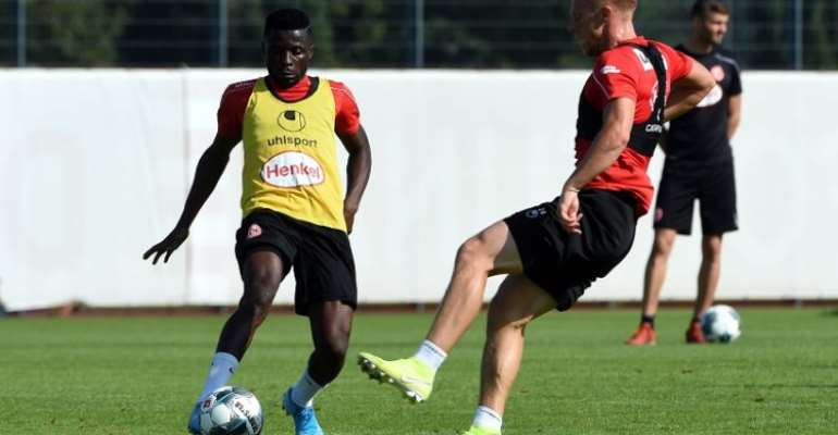 Nana Ampomah Returns To Fortuna Düsseldorf Training After Recovering From Injury