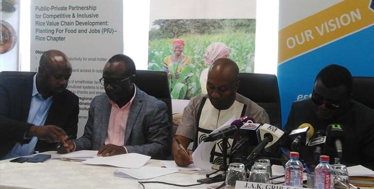 GCX, JAK Foundation And GRIB Sign Joint MoU For Ghanaian Rice Value Chain