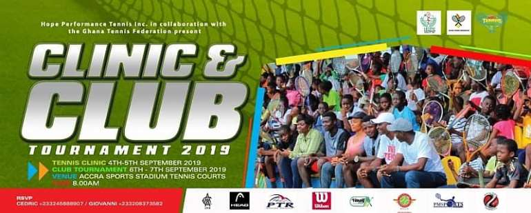 2nd Edition Of Hope Performance Tennis Clinic and Club Tournament To Come Off On September At ASS