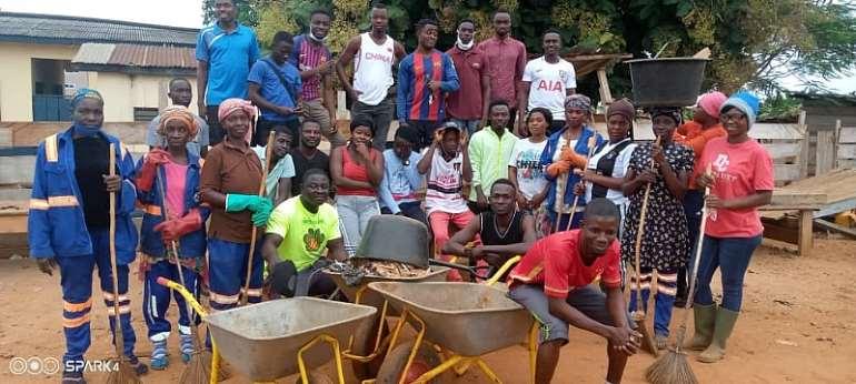 COVID-19: Asunafo North Naspa Cleans Ahafo Regional Capital Goaso
