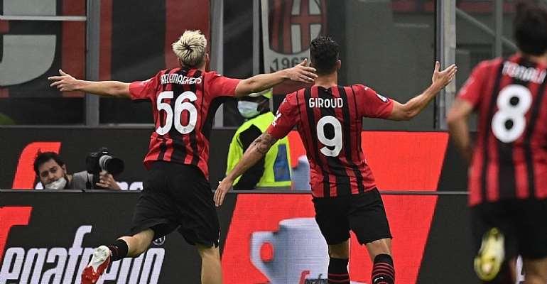 Serie A: Giroud scores twice as AC Milan cruise over Cagliari