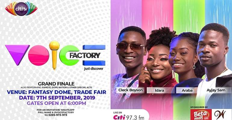 Citi TV's Voice Factory Grand Finale Is On September 7 At Fantasy Dome