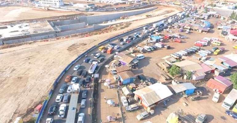 Tema Motorway Interchange Half-Way Complete