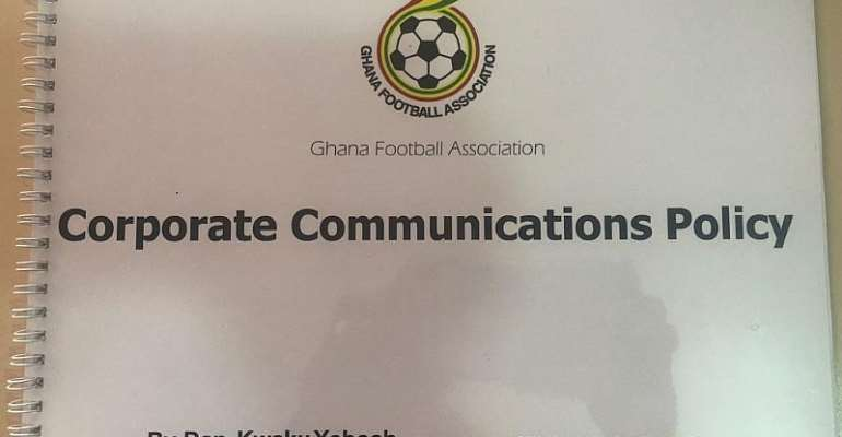 Dan Kwaku Yeboah Presents Communications Policy To Ghana FA