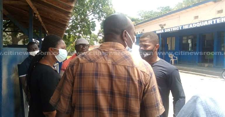 NDC Members Storm Nima Police Station To Release Concerned Small Scale Miners' President