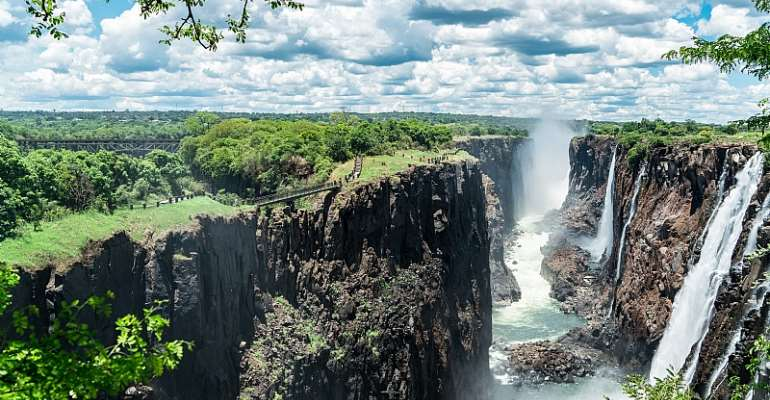 A scenic view of the Victoria Falls, Zimbabwe. - Source: GettyImages