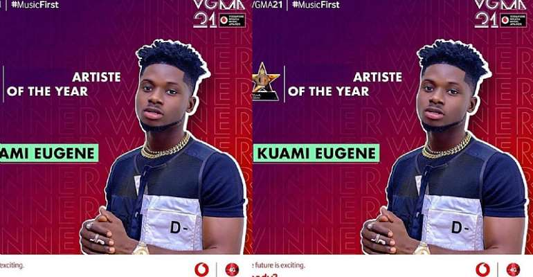 Shocking!! As Kuami Eugene wins artiste of the year at the 2020 VGMA