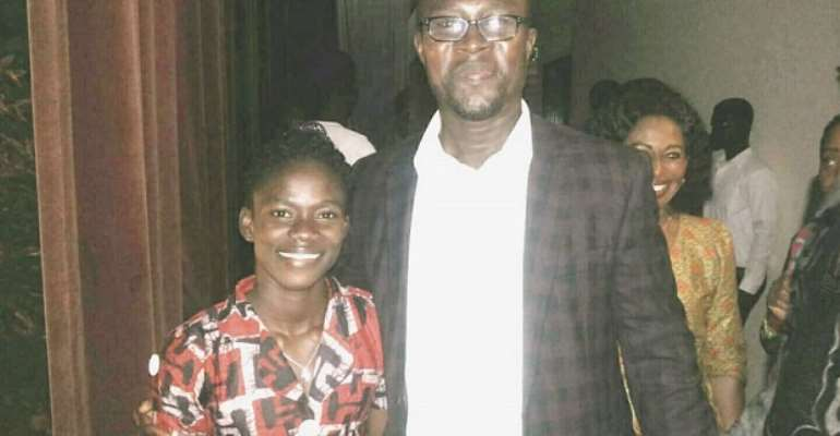 Tetteh with Martha