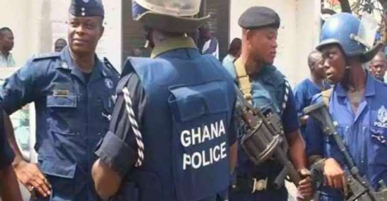 The Ghana police force battle against crime in the country- photo credit: Media Ghana