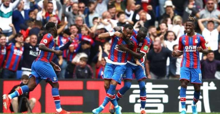 PL: Jordan Ayew Scores As Crystal Palace Continue Impressive Form Against 10-Man Villa