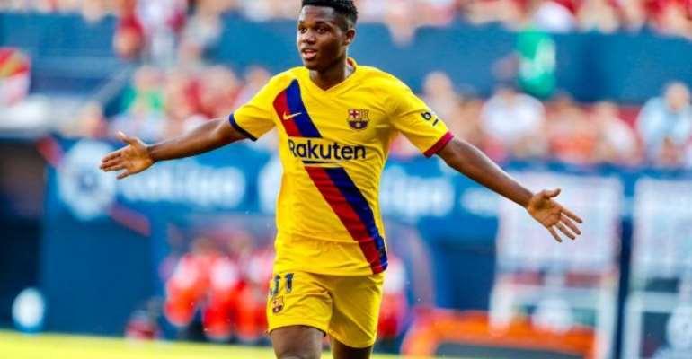 Ansu Fati Becomes Barca's Youngest Ever Scorer In La Liga