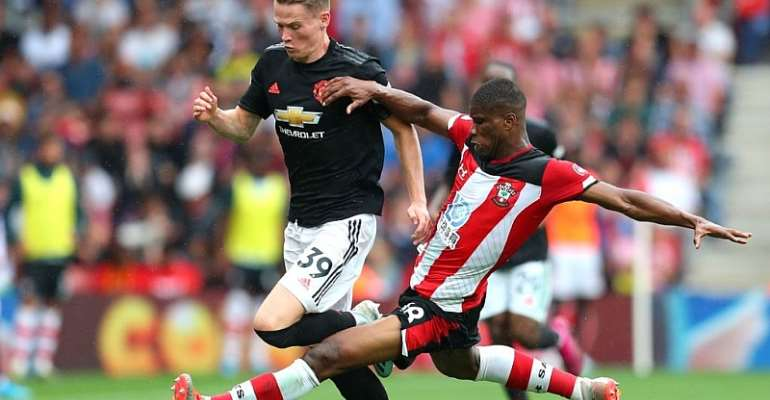 Kevin Danso Sees Red After Providing Key Assist In Southampton's draw With Manchester Utd