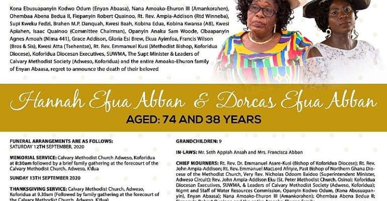 CALL TO GLORY: Hannah Efua Abban And Dorcas Efua Abban