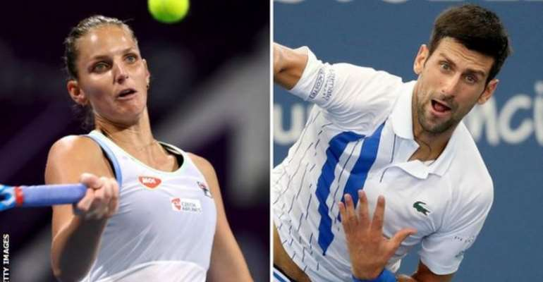 Karolina Pliskova is aiming for her first Grand Slam title, while Novak Djokovic is trying to go level with Rafael Nadal in terms of major wins