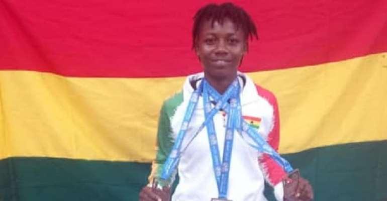 Ghana Female Weightlifter Winifred Ntumy Hails YEA Package