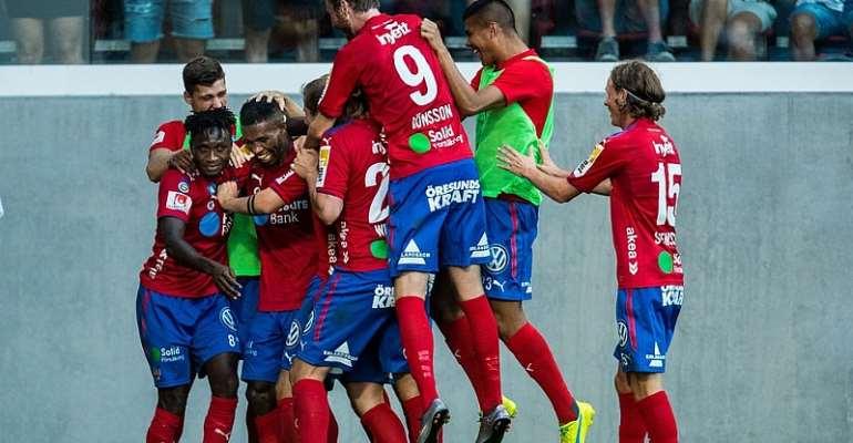 Mohammed Abubakari On Target For Helsingborg IF In Norrby Win