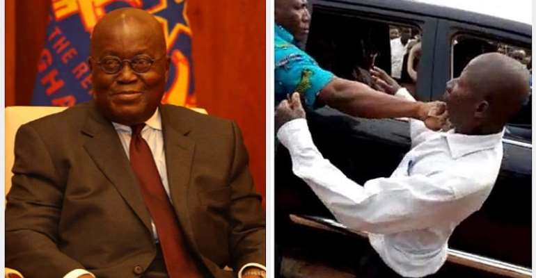 Re - Akufo-Addo Bodyguard Punches An Oldman For Breach Of Protocol