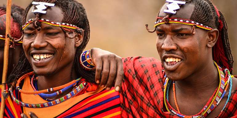 Two Maasai warriors