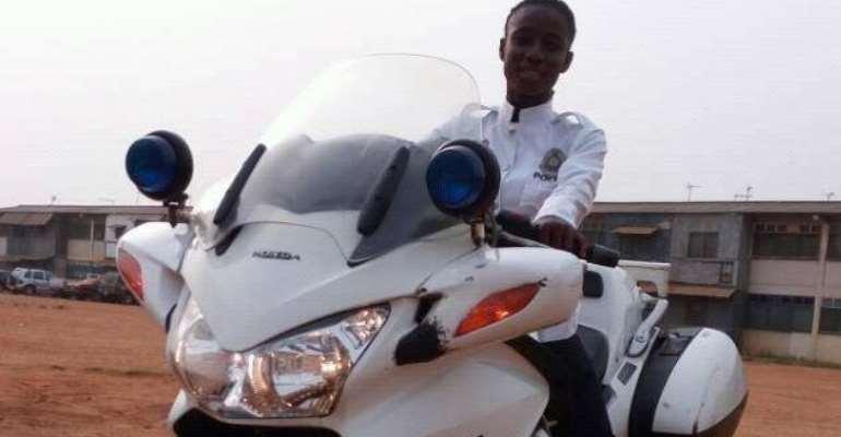 I've Never Taken Bribe Since I Joined Ghana Police – Biker Akua Gaddafi