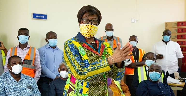 Sophia Akuffo Commends Use Of Home-Grown Talent In Construction Of Ghana's First Infectious Disease Centre