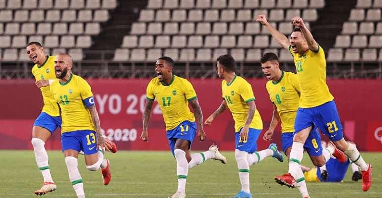 Men's Olympic football: Brazil win shootout to set up Spain final