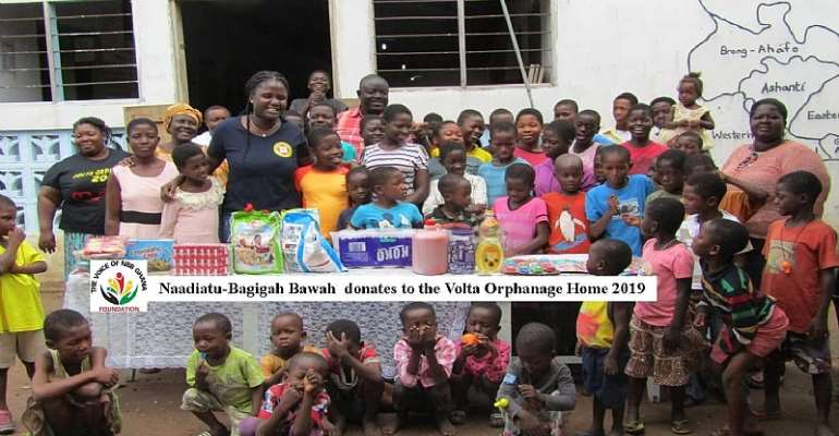 Naadiatu-Bagigah Bawah holds on to her promise as she donates to the Volta Orphanage Home