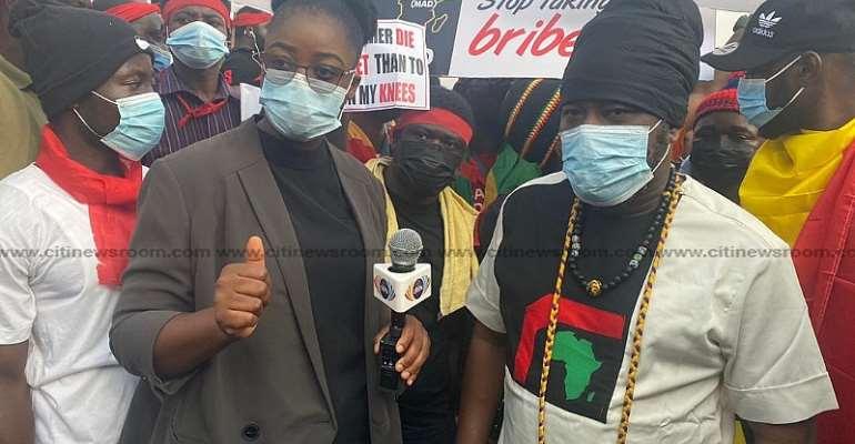 'We aim for waakye, they aim for V8s' — say protestors as Blakk Rasta joins #FixTheCountry demo