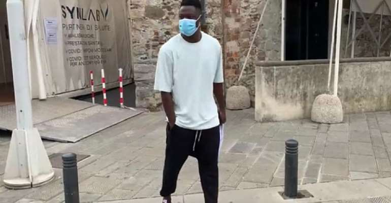 Ghana striker Caleb Ekuban completes Genoa medical ahead of Serie A move [Photos]