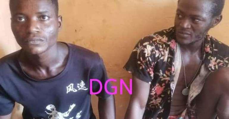 Yeji Police arrest 2 suspected robbers at Damankwanta village