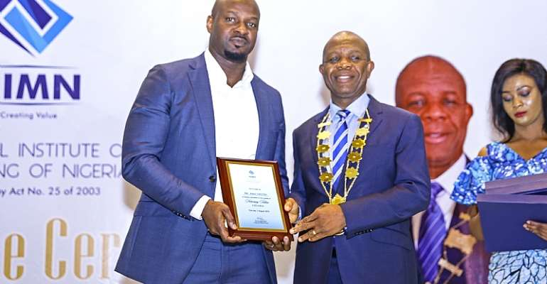 VIMN Africa's EVP & MD, Alex Okosi, named Honorary Fellow of National Institute of Marketing Of Nigeria
