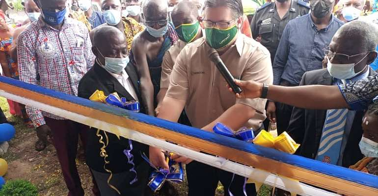 Cape Coast Resources Limited  renovates 3 Unit JHS Block for Kangaboi Community in Aowin