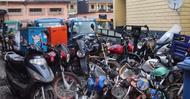 54 motorcyle, tricycle riders arrested in Takoradi