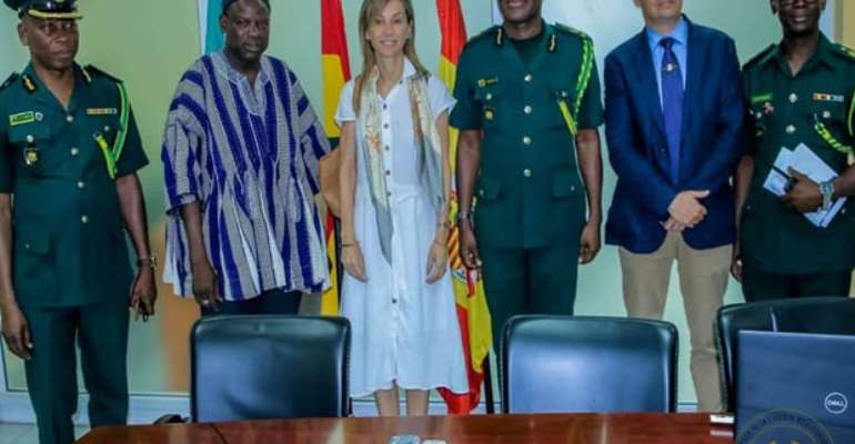 The Spanish Ambassador to Ghana, Comptroller-General of Immigration with Salifu Saeed in Tamale