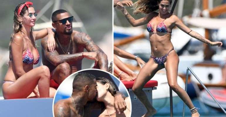 KP Boateng Spotted Enjoying With Melissa Satta In Sardinia Despite Divorce Rumors