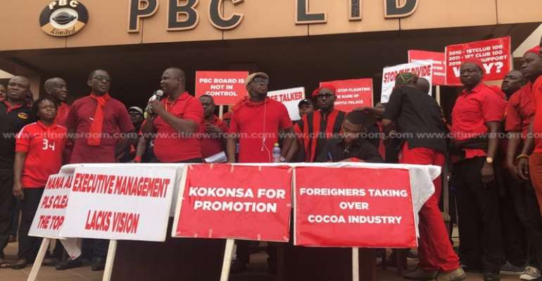 PBC Workers Demonstrate Over Poor Management