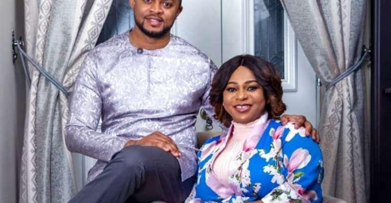 Adwoa Safo with her husband