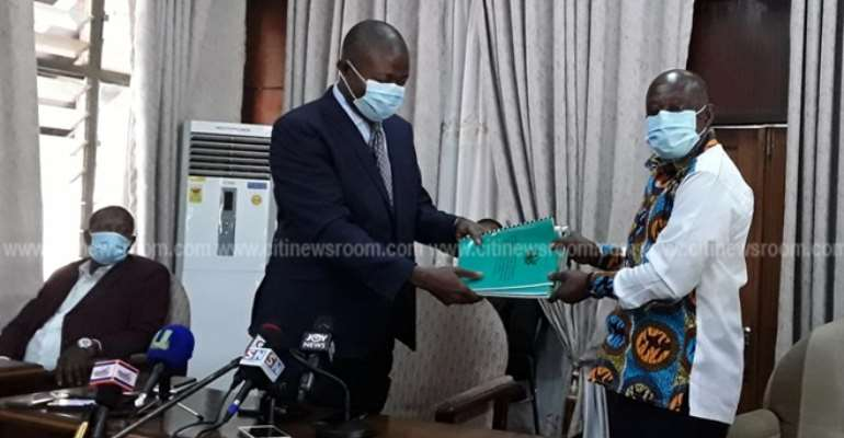 A/R: Report On KNUST SHS Student's Death Presented To Minister
