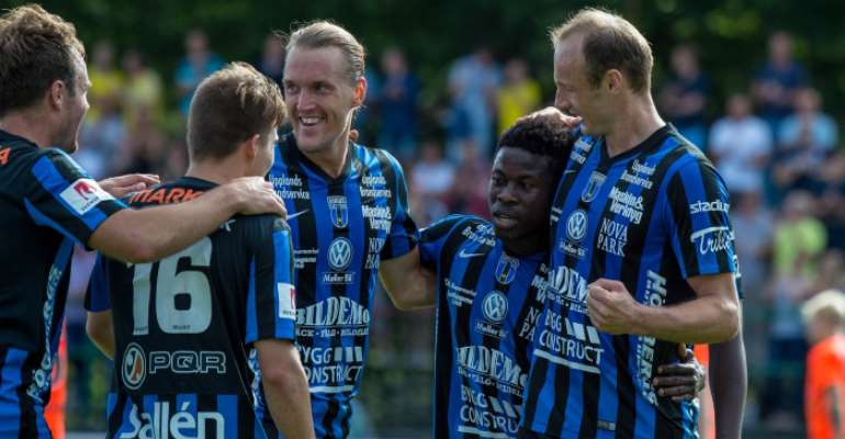 Ghanaian Kingsley Sarfo scores for Sirius in Swedish second-tier league win