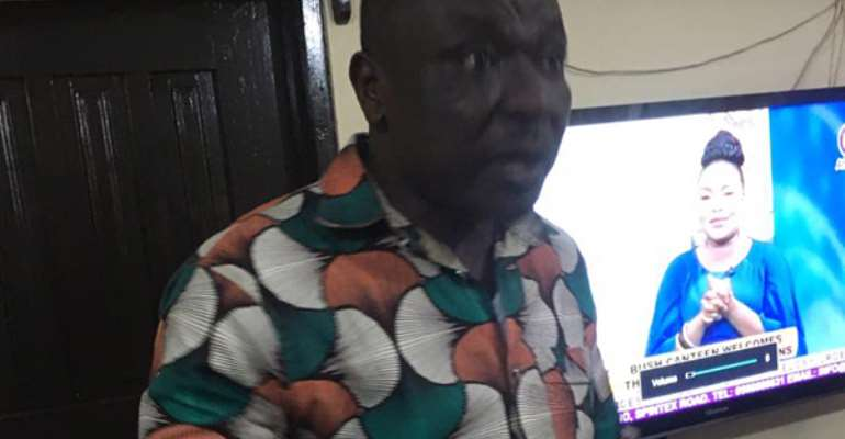 Suspect Kofi Sarkodie in Police custody