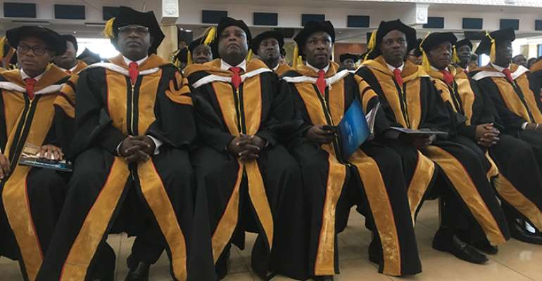 A cross section of the graduating pastors