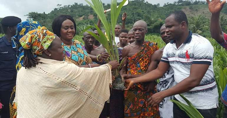 Farmers In Prestea Huni-Valley Receive Over 100,000 Palm Seedlings From MP