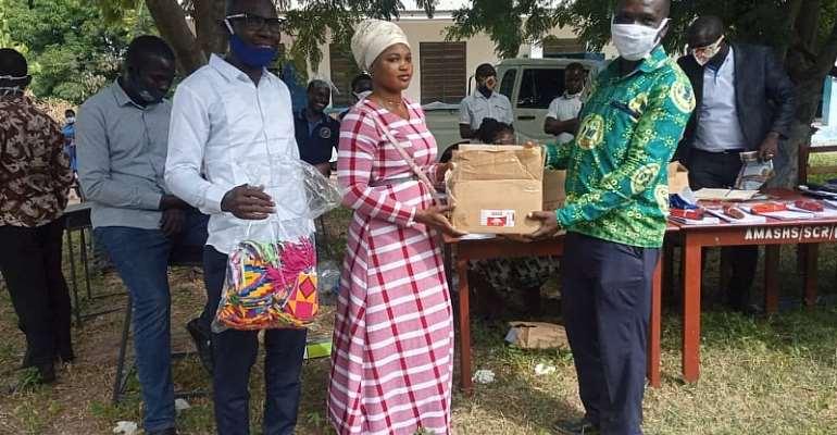 COVID-19: University Of Ghana Student Donates To Alma Mater Amanten SHS
