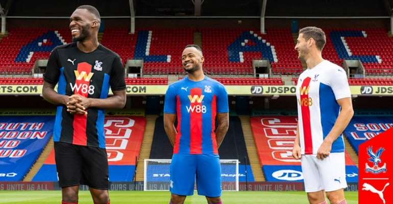 Jordan Ayew And Jeffery Schlupp Model In New Crystal Palace Home And Away Jersey [VIDEO]