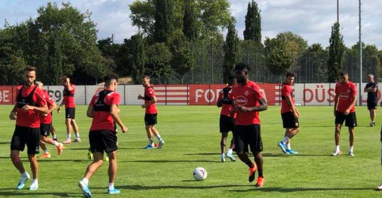 Kasim Adams Hold First Training With Fortuna Dusseldorf