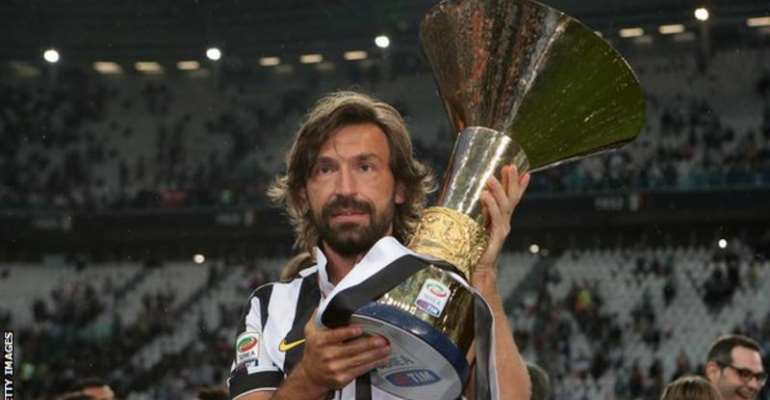 Andrea Pirlo won four Serie A titles, a Coppa Italia and two Italian Super Cups at Juventus